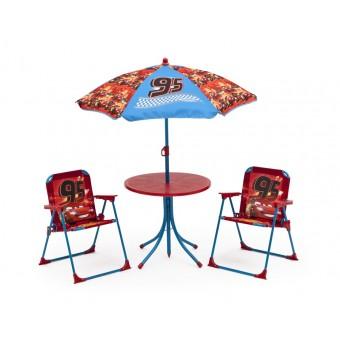 Disney Biler / Cars McQueen Havesæt med stole og parasol
