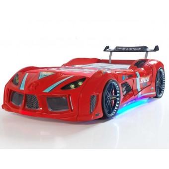Speed Tuning 4WD Bilseng med Komplet LED-Lys og Lydpakke, Rød