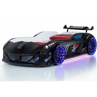 Speedy Turbo Tech Bilseng med LED-Lys og Lydpakke, sort