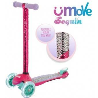 uMoVe Paillet Mini Flex LED Løbehjul, Pink