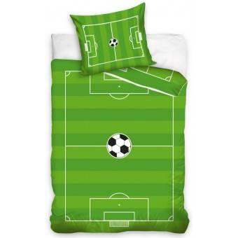 Fodboldbane Sengetøj 135 x 200, 100 procent bomuld