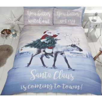 Julemanden ''Santa's Coming to Town'' sengetøj til børn