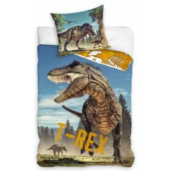 Dinosaur 'T-REX' Sengetøj 140 x 200, 100 procent bomuld