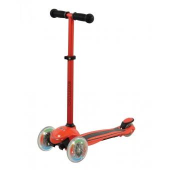U Move Mini Compact LED Løbehjul, Rød / Sort