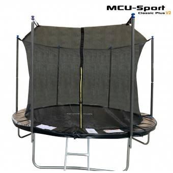 MCU-Sport Classic Plus V2 3,05M Trampolin + Sikkerhedsnet + Stige Sort
