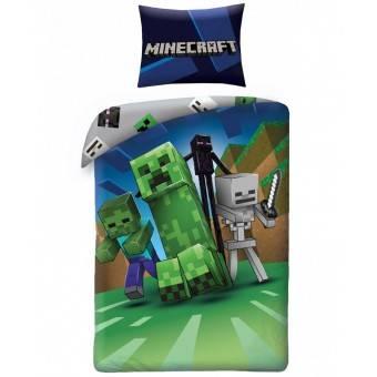 Minecraft Enderman Sengetøj - 100 Procent Bomuld