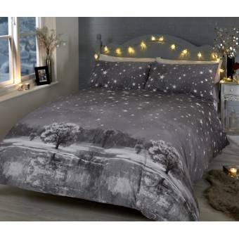 Jule Sengetøj 'Stjerneklar nat', Mono til dobbeltdyne, 200x200cm