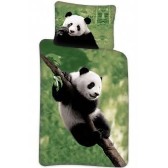 Panda Klatre Sengetøj 140 x 200, 100 procent bomuld