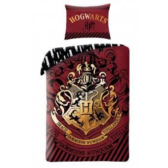 Harry Potter Hogwarts Sengetøj 2i1 Design 1 - 100 Procent Bomuld