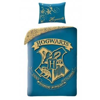 Harry Potter Hogwarts Sengetøj 2i1 Design 3 - 100 Procent Bomuld