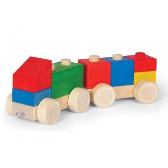 VARIS Træ Bygge og Stableklodser Køretøjer 9