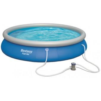 Bestway Fast Set Pool Sæt 457 x 84cm m/filter Pumpe