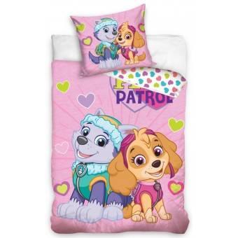 Paw Patrol Junior Pink Sengetøj 100x135cm - 100 procent bomuld