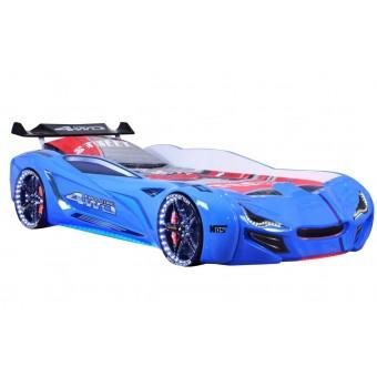 Speedy Spoiler 4WD Bilseng med LED-Lys og Lydpakke, Blå