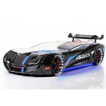 Speedy Spoiler 4WD Bilseng med LED-Lys og Lydpakke, sort