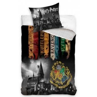 Harry Potter Hogwarts Mørkt Sengetøj, 100 procent bomuld