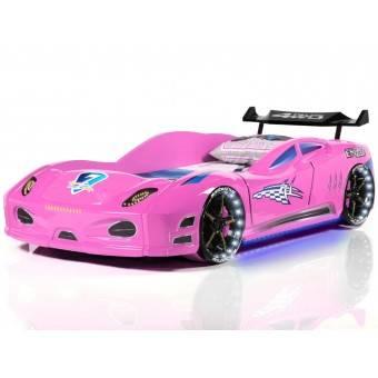 Enzo Bilseng med LED-Lys og Lydpakke, Pink