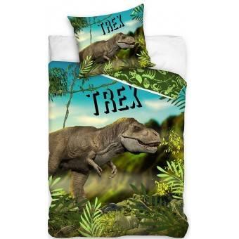 Dinosaur T-REX Sengetøj 140 x 200, 100 procent bomuld