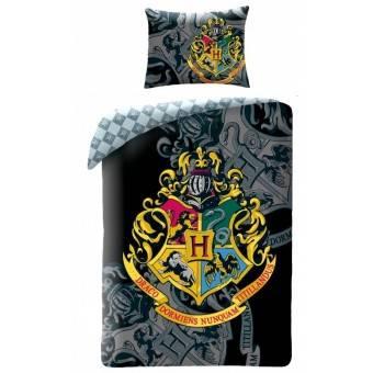 Harry Potter Hogwarts Sengetøj 2i1 Design 4 - 100 Procent Bomuld