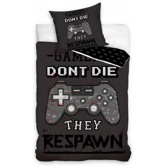 'Dont Die' Gamer Sengetøj - 100 procent bomuld