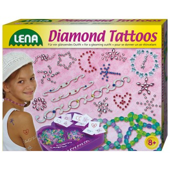 Lena tatoveringer 'Diamant' til børn, stor