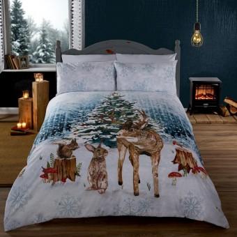 Jule Sengetøj 'Glædelig Jul i skoven'