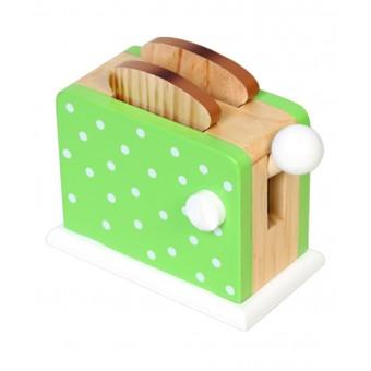 Toaster grøn m. prikker til børn