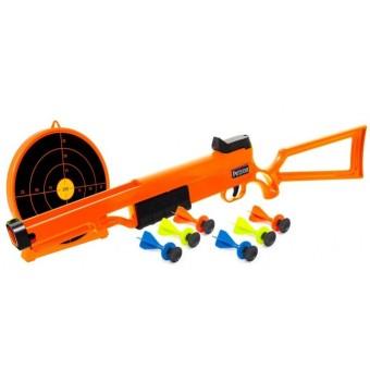Sureshot Rifle + Skydeskive til børn m/6 dartpile