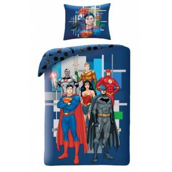 Justice League 2i1 Sengetøj model 2 - 100 procent bomuld