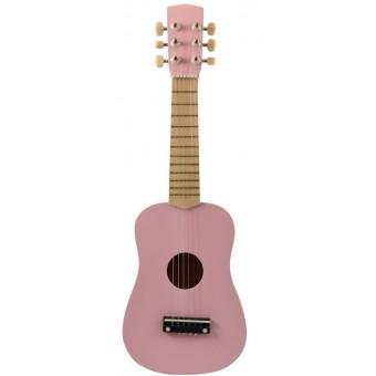 Guitar til børn m. 6 strenge - Rosa