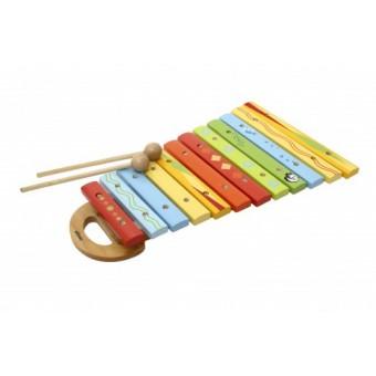 Xylofon i træ, dyredesign til børn