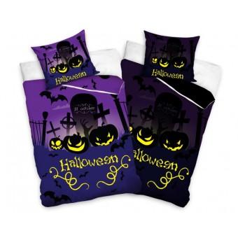 Halloween Sengetøj 140 x 200, 100 procent bomuld