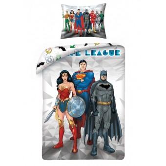 Justice League 2i1 Sengetøj - 100 procent bomuld