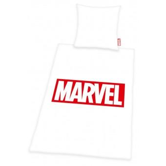 Marvel Sengetøj, hvid - 100 procent bomuld