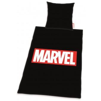 Marvel Sengetøj, sort - 100 procent bomuld