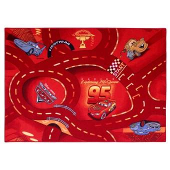 Disney Biler Rød børne tæppe 133x95