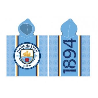Manchester City Poncho / Håndklæde med hætte - 100 procent bomuld