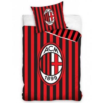 AC Milan Sengetøj - 100 Procent Bomuld