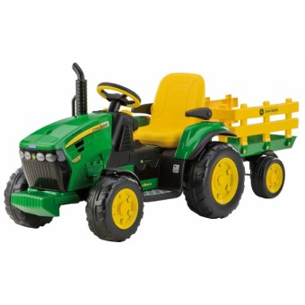 John Deere Ground Force EL Traktor med anhænger 12V