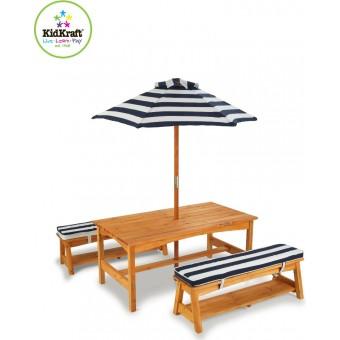 KidKraft Have bord og bænke m/parasol til børnene
