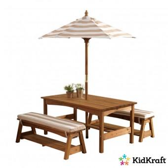 KidKraft Have bord og bænke m/parasol til børnene 2