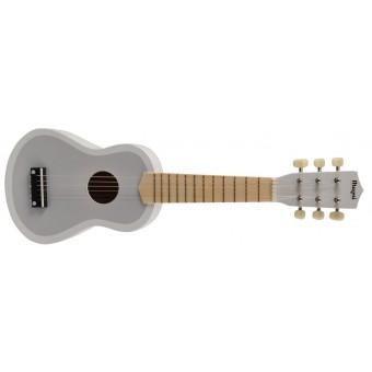 Guitar til børn m. 6 strenge - Grå/ Hvid
