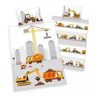 Byggeplads Junior Sengetøj 100x135 cm - 100 procent bomuld