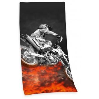 Motocross Dirtbike Badehåndklæde - 100 procent bomuld