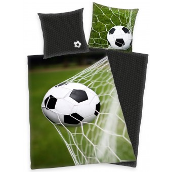Fodbold Mål Sengetøj - 100 Procent Bomuld