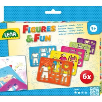 Tegneskabelon sæt med figurer og sjov til børn