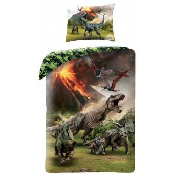 Jurassic World Dinosauar Sengetøj 2i1 Design - 100 Procent Bomuld