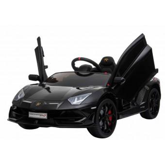 Lamborghini Aventador SVJ elbil til børn m/Gummihjul + 2.4G