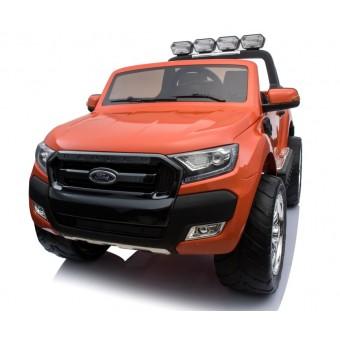 Ford Ranger F650 4x4 12v Orange m/4x12V + Gummihjul + fjernb