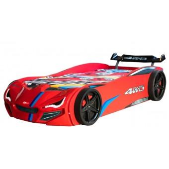 Speedy 4WD Bilseng med LED-Lys og Lydpakke, Rød